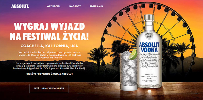 Konkurs Absolut x Coachella