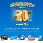Urodzinowa loteria Wakacje.pl z okazji 20 lat