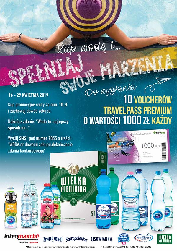Konkurs kup wodę i spełniaj swoje marzenia w Intermarche