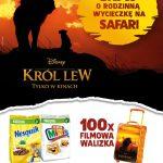 Loteria Król Lew i płatków Nestle